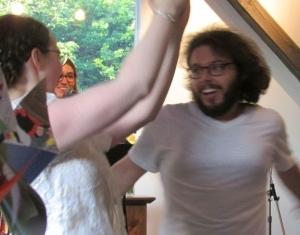 Ross and Jamie blurry dance