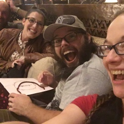 Ryan, Emily, Ross and Jamie at Animal Kingdom Lodge | Ross and Jamie Adventure