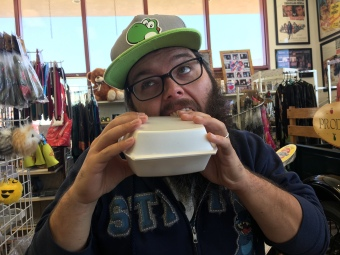 Leftovers at a travel plaza in Colorado | Ross and Jamie Adventure