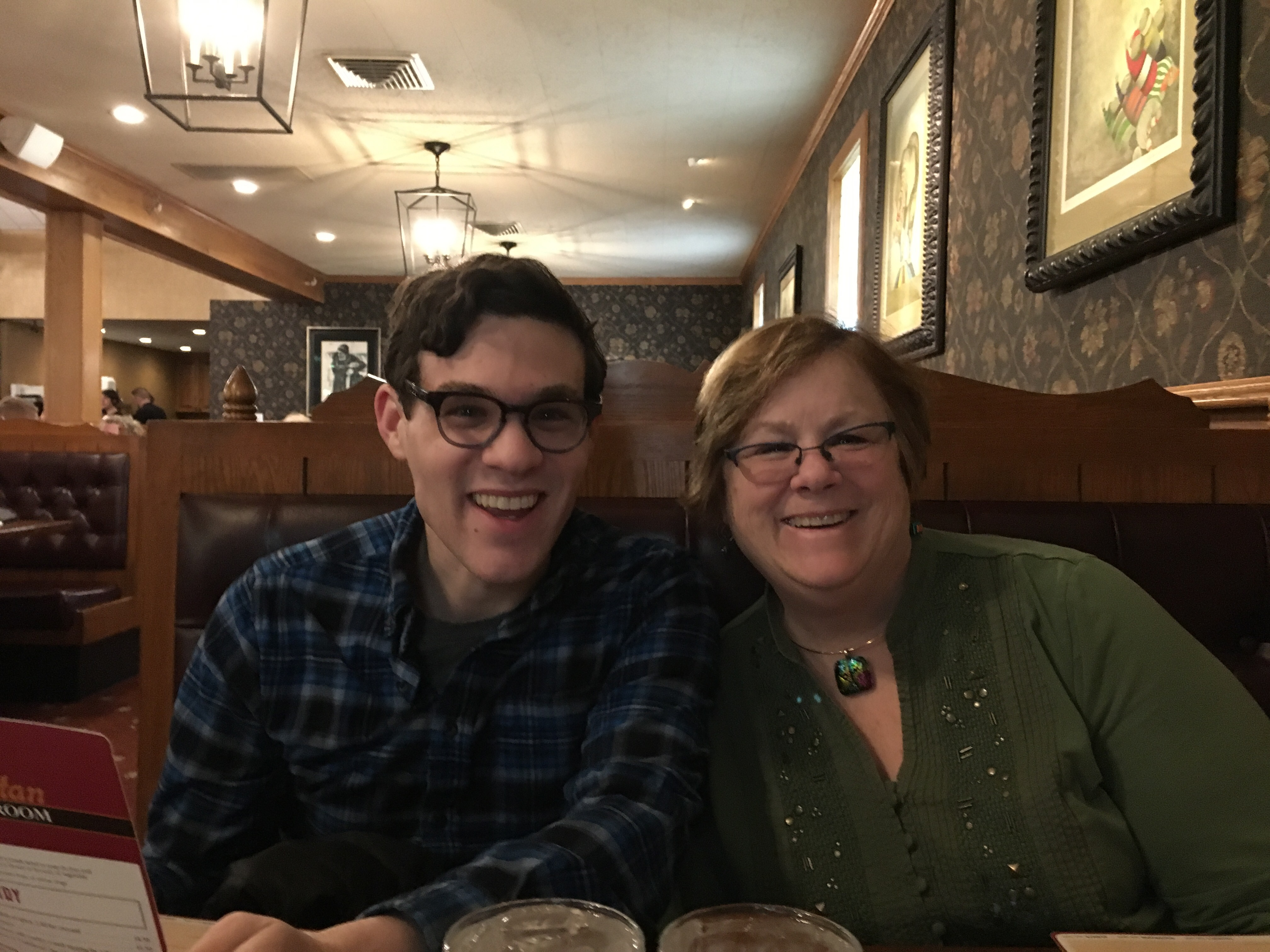 Robbie and Mom, Manchester, NH | Ross and Jamie Adventure